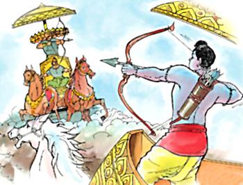 Rama battling Ravana