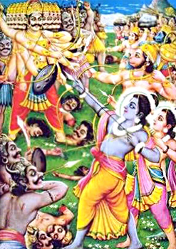 Combat Between Rama and Ravana
