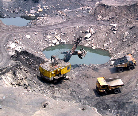 Coal Field at Jharia , Dhanbad  District of Jharkhand