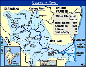 River course of Kaveri