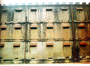 Back wall of Cellular Jail, Andaman and Nicobar Islands