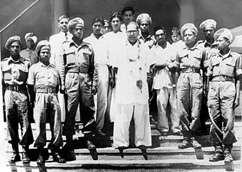 Dr. Babasaheb Ambedkar with Mahar Regiment