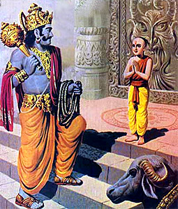 Katha Upanishad - Conversation between Yama who is the teacher and Nachiketa who is his disciple