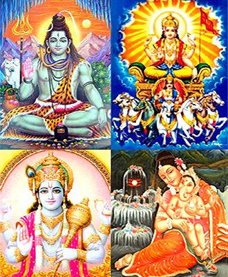 Panchayatana Puja consists of worship of five deities