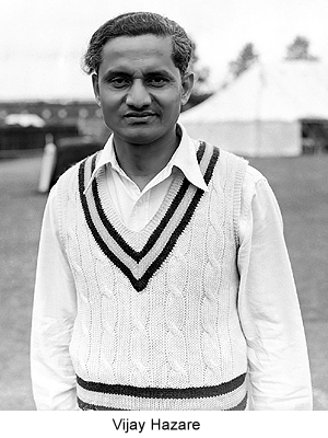 Vijay Hazare, Indian Cricket Player
