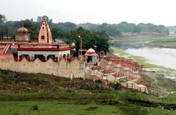 Bela Bhawani on the bank of the river Sai