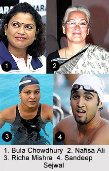 Swimmers in India