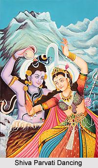Shiva Parvati Dancing