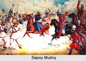 Siege of Delhi, Indian Sepoy Mutiny, 1857
