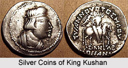 Silver Coins of King Kushan