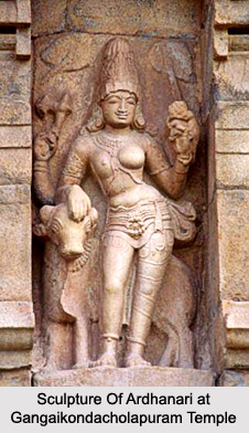 Sculpture Of Ardhanari at Gangaikondacholapuram Temple, Chola Sculpture, Indian Sculpture