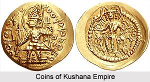 Coins of Kushana Empire