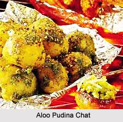 Aloo Pudina Chat, Indian Snacks