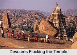 Devotees Flocking the Temple