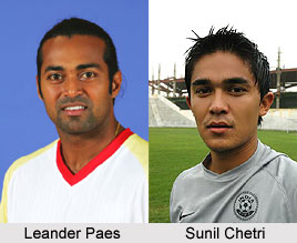 Indian Sportspersons - Leander Paes and Sunil Chetri
