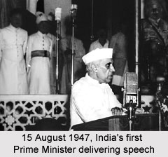 15 August 1947 Indias first Prime Minister delivering speech