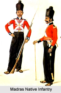 4th Madras Native Infantry, Madras Army