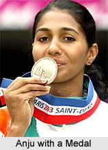 Anju Bobby George with Bronze Medal