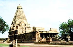 Chola temple in Thanjavur, Tamil Nadu