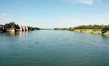 Cauvery River at Thiruvaiyaru