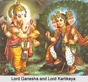 legend of lord ganesha and kartikeya