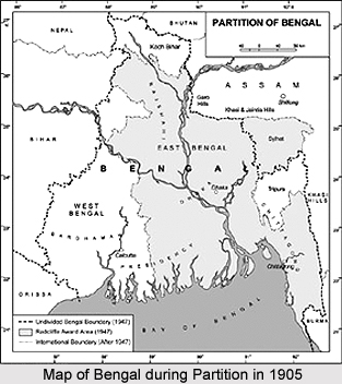 Partition Of Bengal 1905 on administrative