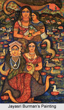 Jayasri Burman , Indian Painter