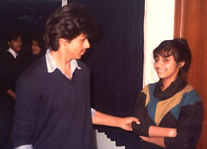 Gauri Khan and Shahrukh Khan in college