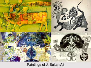 J. Sultan Ali, Indian Painter