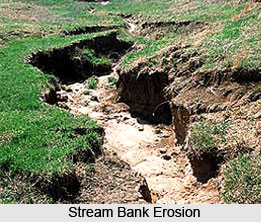 Stream Bank Erosion Occurs When Tors Or Hill Streams Come Down By Wide Spreading Beds On Emergence From The Hills With Ill Defined Banks Flashy Flows