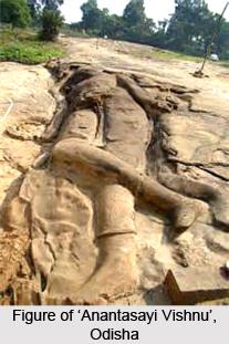 Rock-cut Anantasayi Vishnu, Dhenkanal District, Odisha