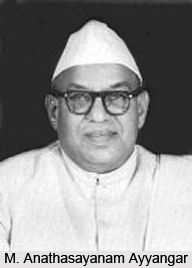 M. Anathasayanam Ayyangar, Indian Speaker