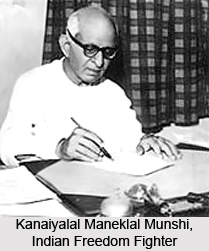 Kanaiyalal Maneklal Munshi, Indian Freedom Fighter
