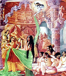 Mahabharata by Veda Vyasa sketch the persuasion of Draupadi on the husbands to overthrow the Kauravas