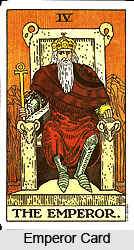 Emperor Card , Tarot Card