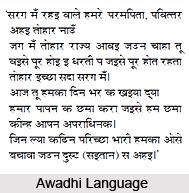 Awadhi Language