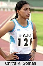 Chitra K. Soman , Indian Sprinter