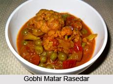 Gobhi Matar Rasedar, Indian Vegetables