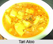 Tari Aloo, Indian Vegetables