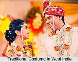 Indian Custom In  Wearing Costume