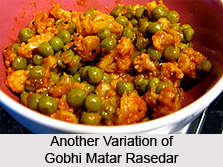 Gobhi Matar Rasedar, Indian Vegetables