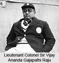 Lieutenant Colonel Sir Vijay Ananda Gajapathi Raju, Indian Cricket Player