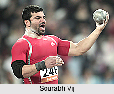 Sourabh Vij, Indian Shot Putter