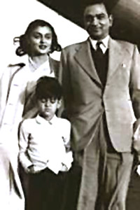Gayatri Devi in the early `50s with her husband, Maharaja Jai Singh of Jaipur, and her son Jagat Singh