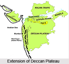 Deccan Plateau, Central Highlands in India