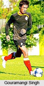 Gouramangi Singh, Football Player