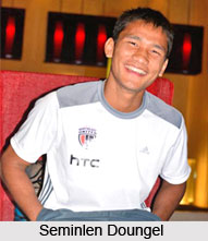 Seminlen Doungel, Indian Football Player