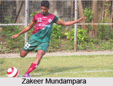 Zakeer Mundampara, Indian Football Player
