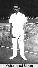 Mohammed Sleem, Indian Tennis Player
