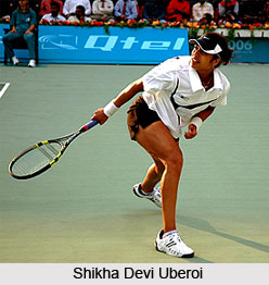 Shikha Devi Uberoi, Indian Tennis Player